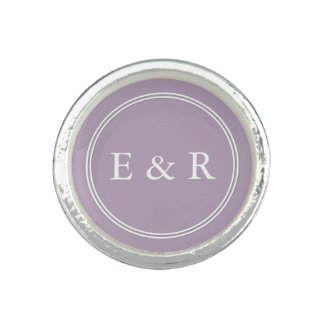 Dark Chalky Pastel Purple Wedding Party Gifts Rings