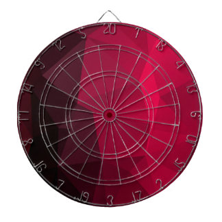 Dark Cherry Crystal Fractal Deep Red Plum Pruple Dartboard