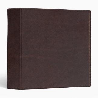 Dark Chestnut Brown Faux Leather Vinyl Binder