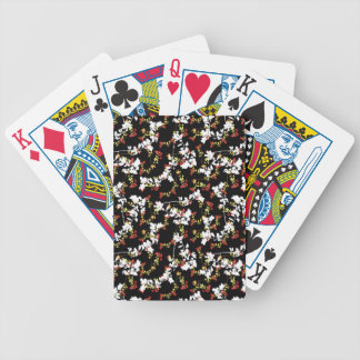Dark Chinoiserie Floral Collage Pattern Bicycle Playing Cards
