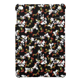 Dark Chinoiserie Floral Collage Pattern iPad Mini Cover