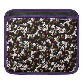 Dark Chinoiserie Floral Collage Pattern iPad Sleeve