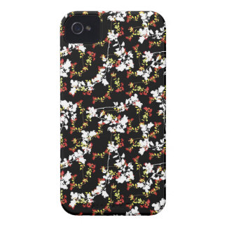 Dark Chinoiserie Floral Collage Pattern iPhone 4 Cover