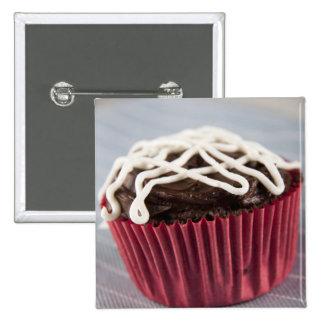 Dark Chocolate Cupcake 2 Inch Square Button