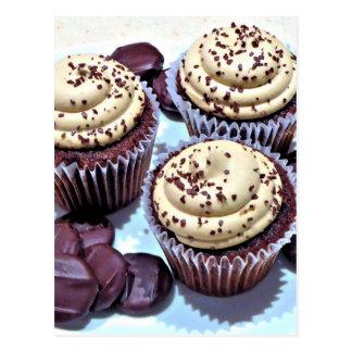 Dark Chocolate Cupcakes - Sweet Bakery Print Postcard