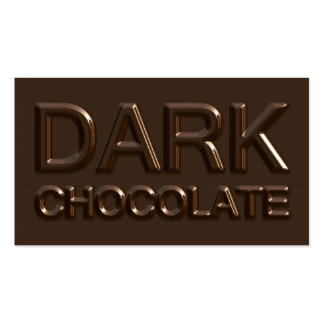 Dark Chocolate Square Business Cards