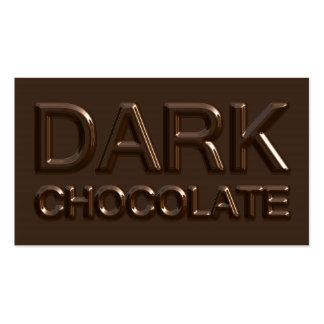 Dark Chocolate Square Business Cards