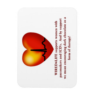 Dark chocolate therapy magnet