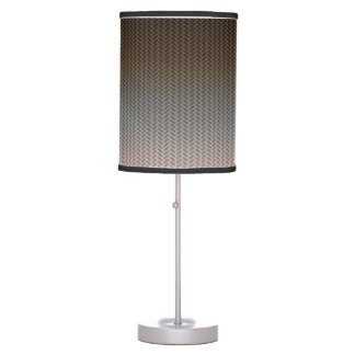Dark Chocolate to Light Beige with Pattern Desk Lamps