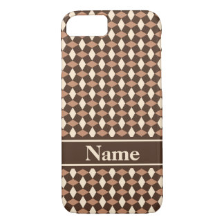 Dark Chocolate Wavy Pattern Phone Case