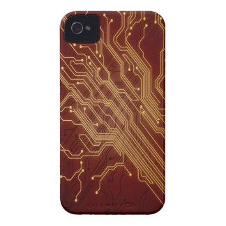 Dark Circuit Board iPhone 4 Cover