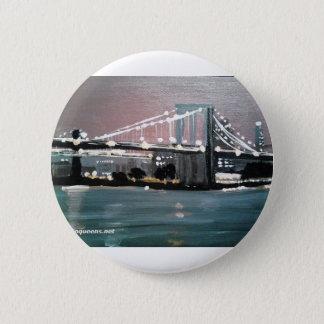 Dark CityScape 2 Inch Round Button