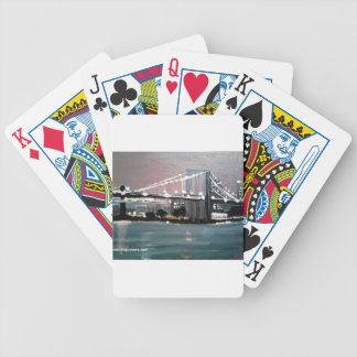 Dark CityScape Bicycle Playing Cards