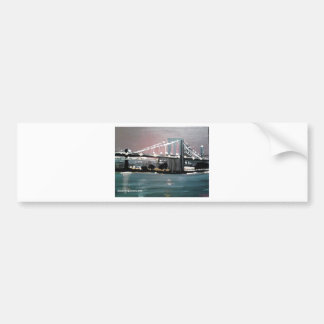 Dark CityScape Bumper Sticker