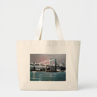 Dark CityScape Large Tote Bag