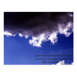 Dark cloud bible verse postcard