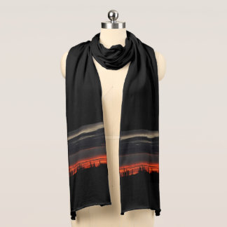 Dark Clouds and Cactus in Orion Women's Scarf