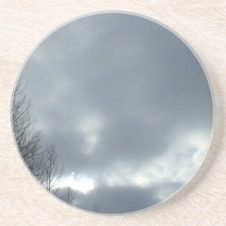Dark Clouds Over Trees Drink Coasters