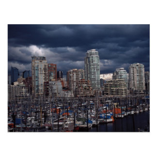 Dark clouds, Vancouver, British Columbia, Canada Postcard