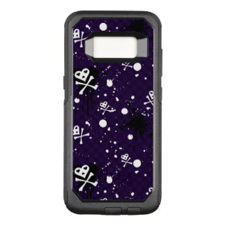 Dark Color Emo Pattern With Paint OtterBox Commuter Samsung Galaxy S8 Case