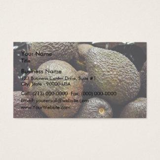 Dark-colored avocado fruit business card