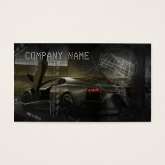 Dark Colored Business Card Containing Sports Car