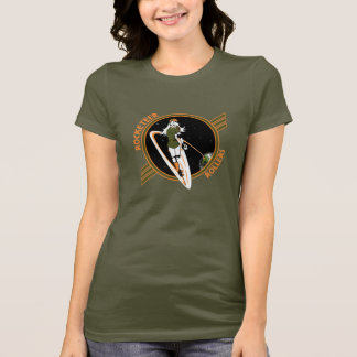 Dark Colored Fitted Rocketeer Rollers Tshirt