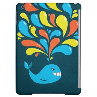 Dark Colorful Happy Cartoon Whale Lightweight iPad Air Covers