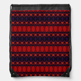 Dark colorful pattern drawstring bag