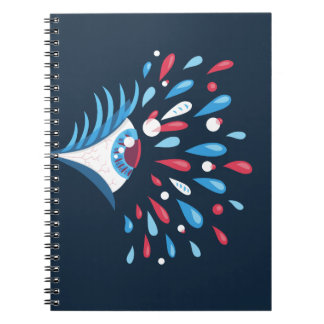 Dark Colorful Splash Psychedelic Eye Notebook