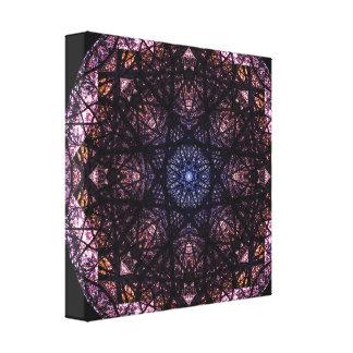 Dark Colors Mandala Canvas Print