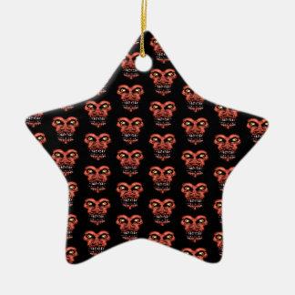 Dark Conversational Pattern. Ceramic Star Ornament
