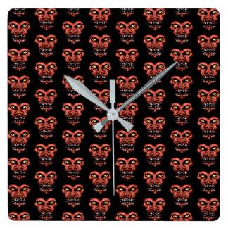 Dark Conversational Pattern. Square Wall Clock