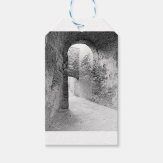 Dark corridors of an old fortification structure gift tags