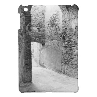 Dark corridors of an old fortification structure iPad mini covers