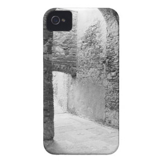 Dark corridors of an old fortification structure iPhone 4 case