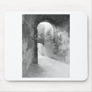 Dark corridors of an old fortification structure mouse pad