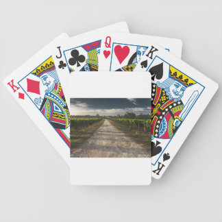 Dark Country Road Bicycle Playing Cards