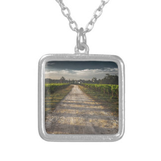 Dark Country Road Silver Plated Necklace