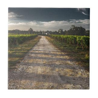 Dark Country Road Tile