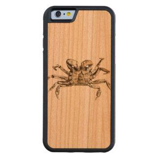 Dark Crab Photo Carved Cherry iPhone 6 Bumper Case
