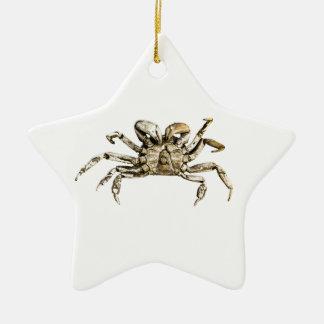 Dark Crab Photo Ceramic Star Ornament