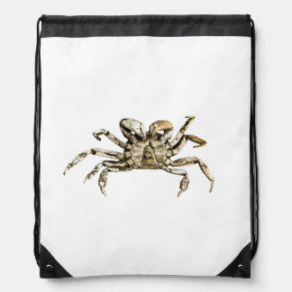 Dark Crab Photo Drawstring Bag