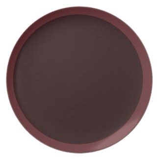 Dark Cranberry and Wine-Colored Plate