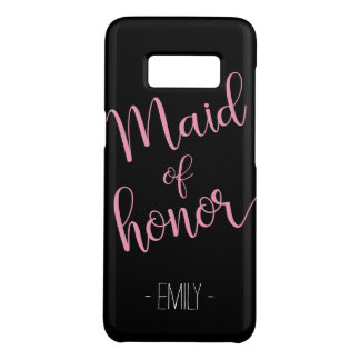 Dark Custom Name Samsung Maid of Honor Case