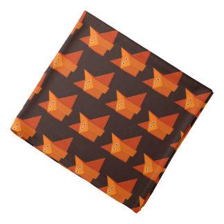 Dark Cute Origami Fox Pattern Bandana