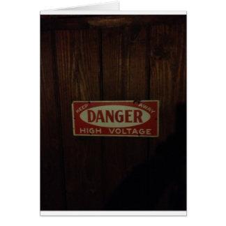 Dark danger high voltage card