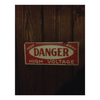 Dark danger high voltage letterhead
