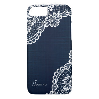 Dark Denim & Lace Customized iPhone 7 Case