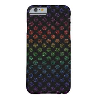Dark Distressed Rainbow Polka Dot iPhone 6/6s Case